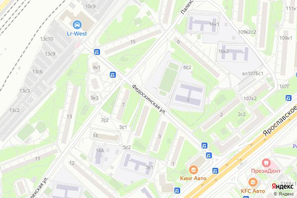 Ремонт телевизоров Улица Федоскинская на яндекс карте