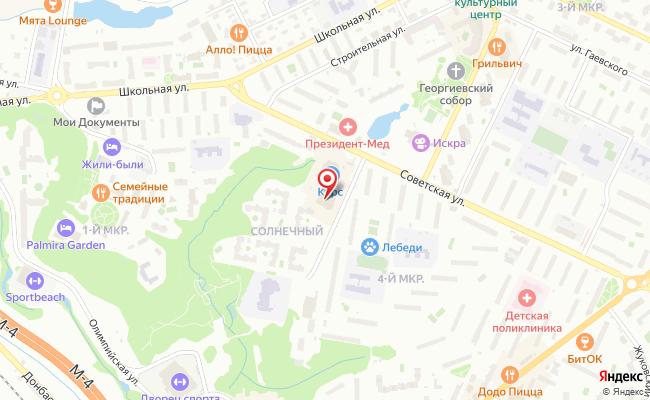 Карта расположения пункта доставки СИТИЛИНК в городе Видное