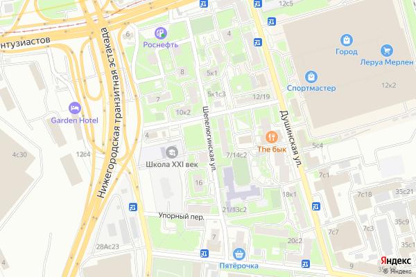 Ремонт телевизоров Улица Шепелюгинская на яндекс карте
