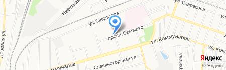 Шелест на карте Донецка