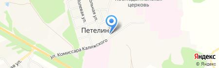 Петелинская средняя общеобразовательная школа на карте Большой Еловой
