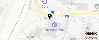 Газель-Сервис на карте Москвы