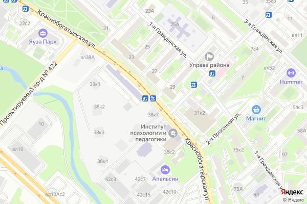 Ремонт телевизоров Улица Краснобогатырская на яндекс карте