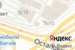 Схема проезда до компании Шиномонтажная мастерская на Остаповском проезде в Москве