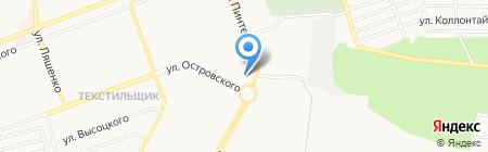 Золотой оазис на карте Донецка