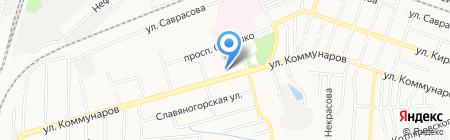 Слава на карте Донецка
