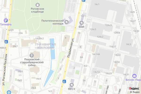 Ремонт телевизоров Улица Подъемная на яндекс карте