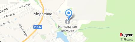 Церковь Николая Чудотворца на карте Глухих Полян