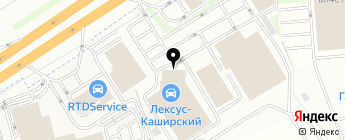 Лексус Каширский на карте Москвы