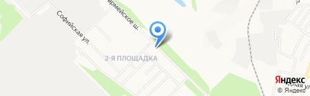 Три пескаря на карте Донецка