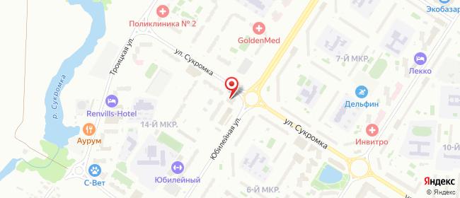 Карта расположения пункта доставки Мытищи Юбилейная в городе Мытищи