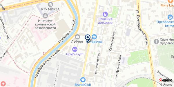 InCity Catering на карте Москве
