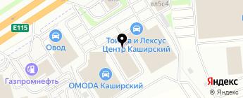 Тойота Центр Каширский на карте Москвы