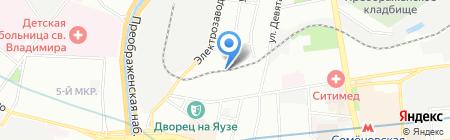 На Семеновской на карте Москвы
