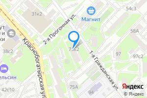 Снять однокомнатную квартиру в Москве м. Преображенская площадь, ул Краснобогатырская 75 корпус 2
