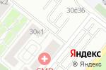 Схема проезда до компании Даль Транс Сервис в Москве