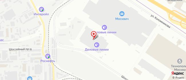 Карта расположения пункта доставки DPD Pickup в городе Москва