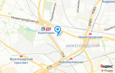 Местоположение на карте пункта техосмотра по адресу г Москва, ул Новохохловская, д 12 стр 6
