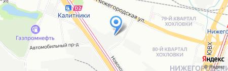 Фишт на карте Москвы