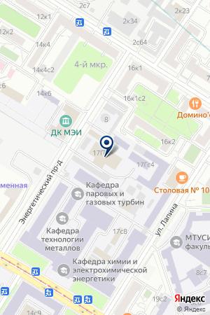 ДОМ КУЛЬТУРЫ МЭИ на карте Москвы