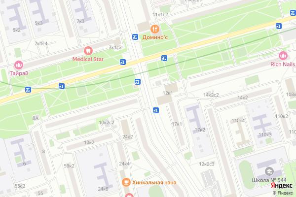 Ремонт телевизоров Улица Домодедовская на яндекс карте