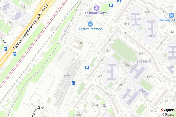 Ремонт телевизоров Улица Подольская на яндекс карте