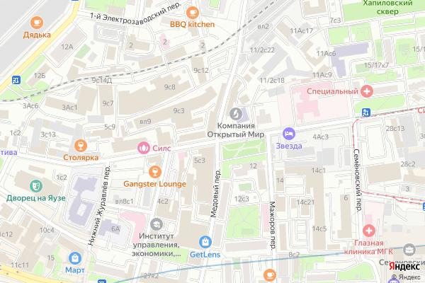 Ремонт телевизоров Улица Малая Семеновская на яндекс карте