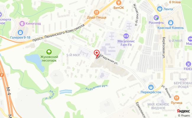 Карта расположения пункта доставки Lamoda/Pick-up в городе Видное