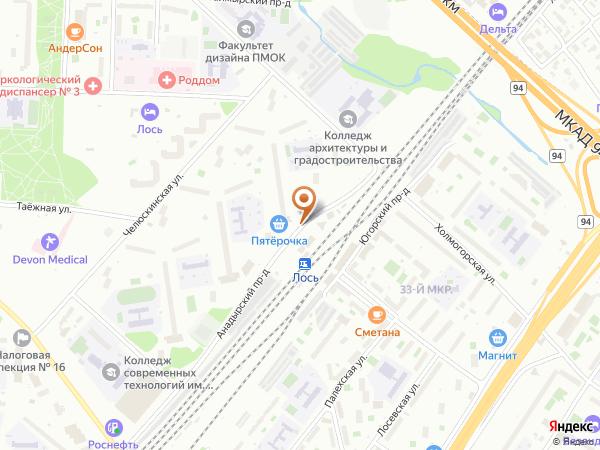 Остановка Платф. Лось (выс.) в Москве