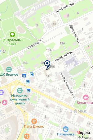 СТАДИОН РАЙОННЫЙ ЦЕНТР СПОРТА на карте Видного