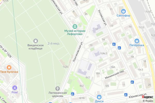 Ремонт телевизоров Улица Лонгиновская на яндекс карте