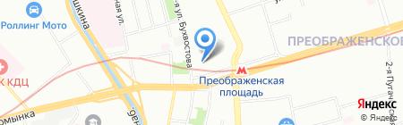 Оверлок на карте Москвы