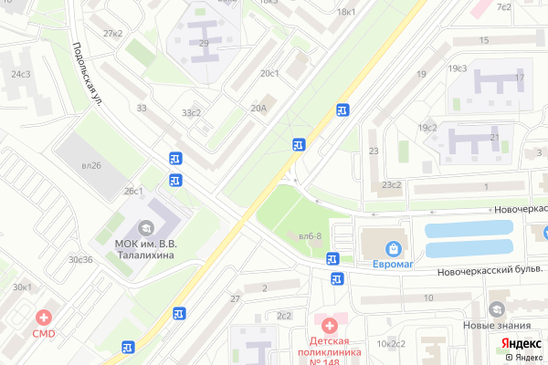 Ремонт телевизоров Улица Донецкая на яндекс карте