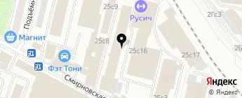 Далес на карте Москвы