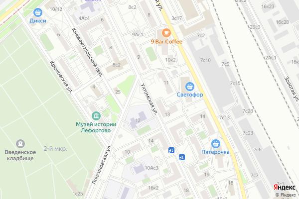 Ремонт телевизоров Улица Ухтомская на яндекс карте