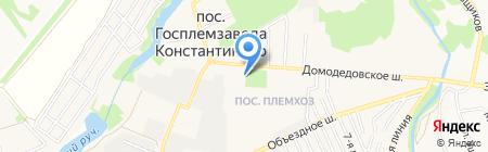 Почтовое отделение №142032 на карте государственного племенного завода