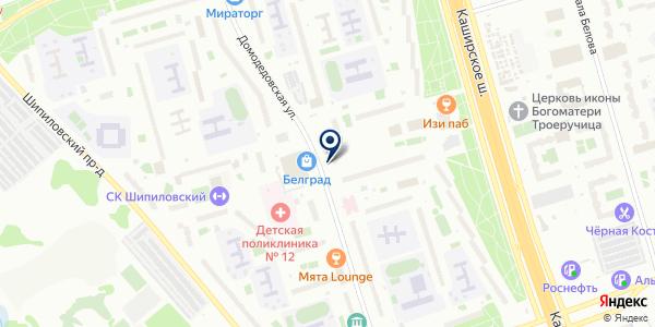 Цветочный киоск на карте Москве