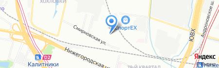 Смирновский на карте Москвы