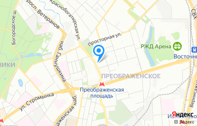 Местоположение на карте пункта техосмотра по адресу г Москва, ул Краснобогатырская, д 89 стр 1