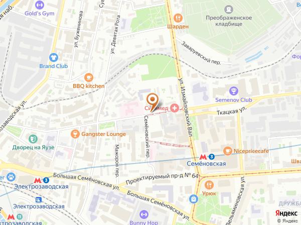 Остановка «М. Семеновская ул.», Малая Семёновская улица (7601) (Москва)