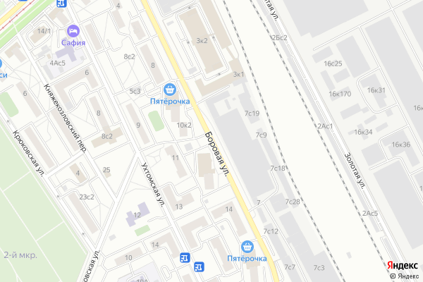 Ремонт телевизоров Улица Боровая на яндекс карте