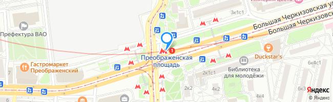 метро Преображенская площадь