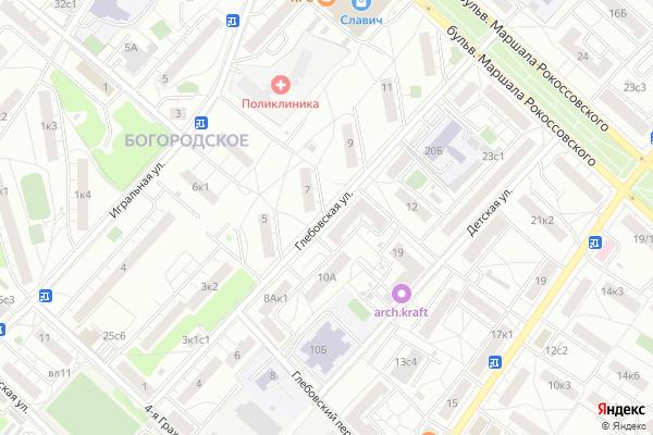Ремонт телевизоров Улица Глебовская на яндекс карте