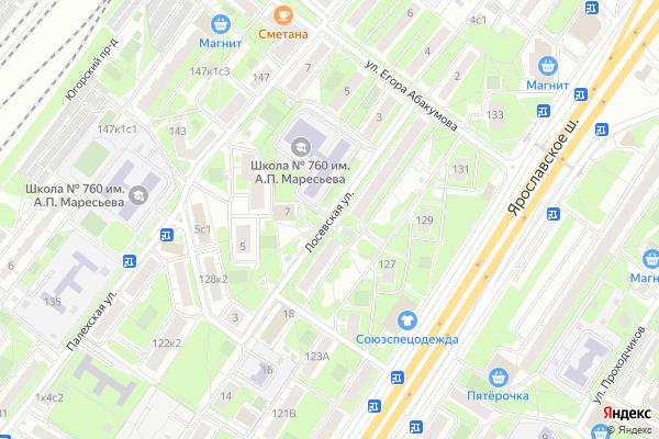 Ремонт телевизоров Улица Лосевская на яндекс карте