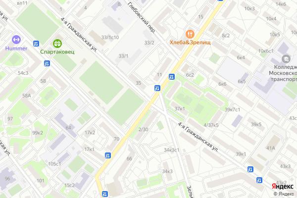 Ремонт телевизоров Улица 4 я Гражданская на яндекс карте