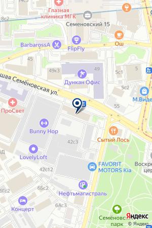 ТЕХНИСС на карте Москвы