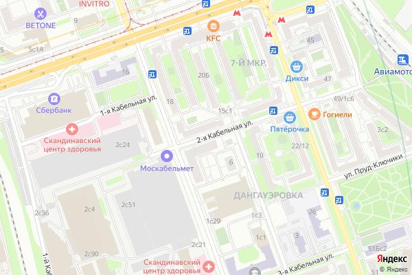 Ремонт телевизоров Улица 2 я Кабельная на яндекс карте