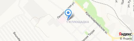 Удача на карте Донецка