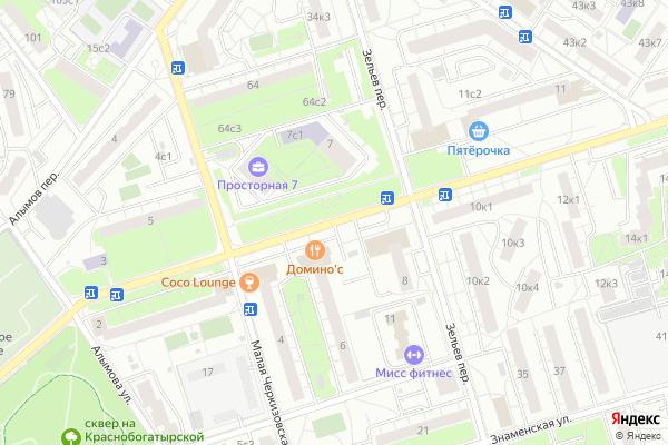 Ремонт телевизоров Улица Просторная на яндекс карте