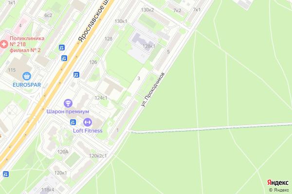 Ремонт телевизоров Улица Проходчиков на яндекс карте